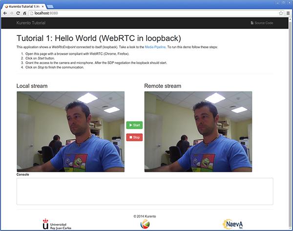 Node js - Hello world — Kurento 6 10 0 documentation