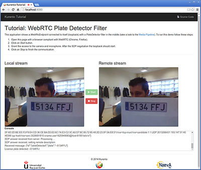 JavaScript Module - Plate Detector Filter — Kurento 6 10 0